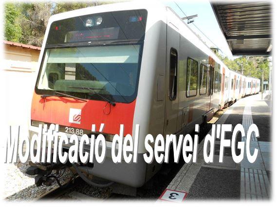 Modificació del servei d'FGC entre Manresa Alta i Manresa Baixador els dies 22 i 23 de novembre