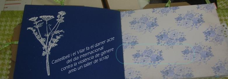 Castellbell i el Vilar fa el darrer acte del Dia internacional contra la violència de gènere, amb un taller de scrap
