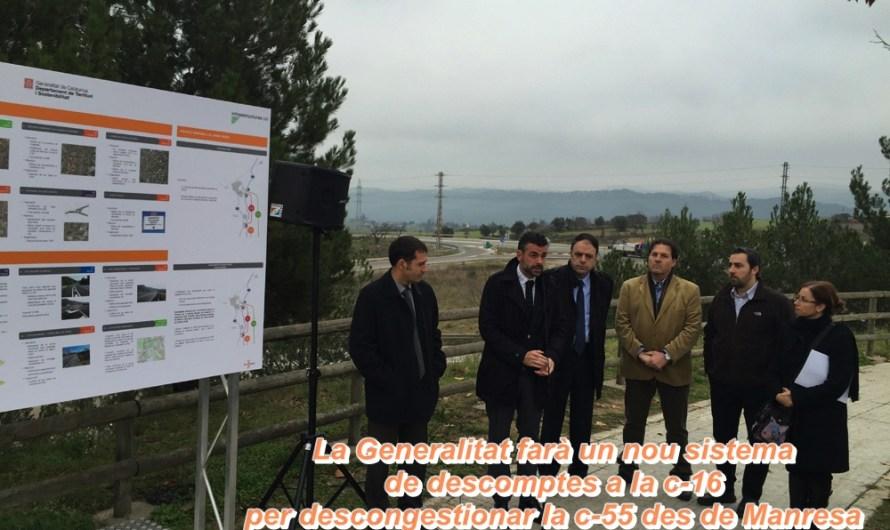 La Generalitat farà un nou sistema de descomptes a la c-16 per descongestionar la c-55 des de Manresa fins a Castellbell i el Vilar