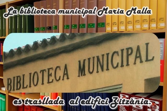 La biblioteca municipal Maria Malla de CBV es trasllada a l'edifici Zitzània.