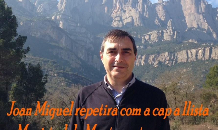 Joan Miquel repetirà com a cap de llista a Monistrol de Montserrat