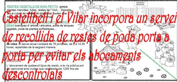 Castellbell i el Vilar incorpora un servei de recollida de restes de poda porta a porta per evitar els abocaments descontrolats