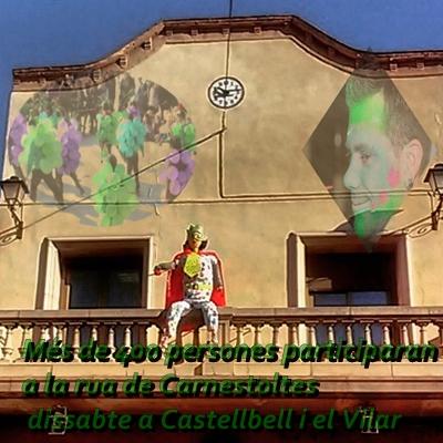 Més de 400 persones participaran a la rua de Carnestoltes dissabte a Castellbell i el Vilar