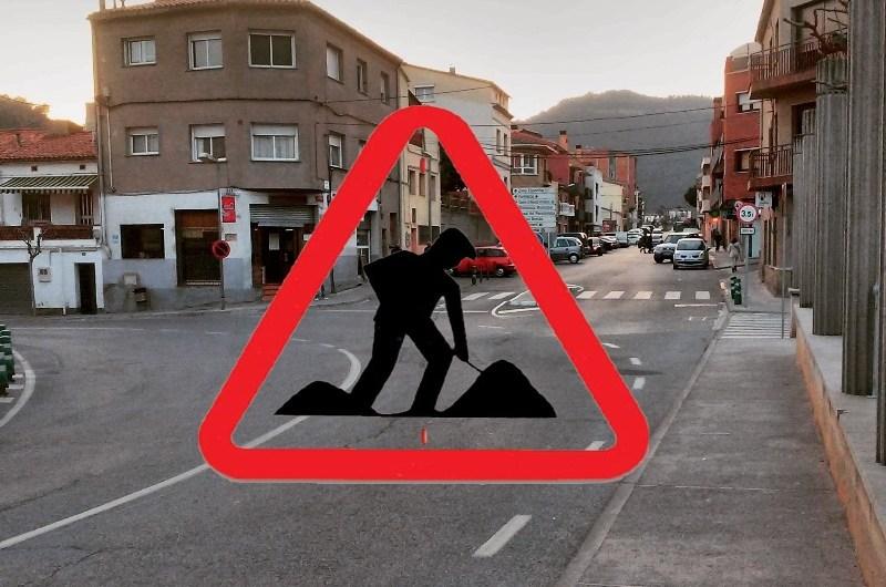 La setmana vinent començaran les obres de la mini-rotonda a la Plaça Barcelona a Castellbell i el Vilar.