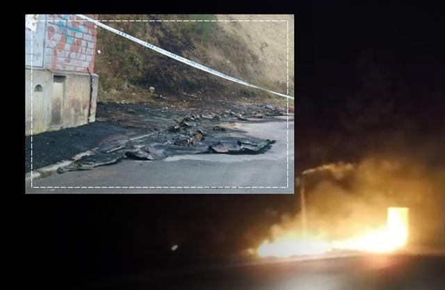 Cremen en una sola nit una quincena de contenidors a Mas Enric -Can prat  a Castellbell i el Vilar
