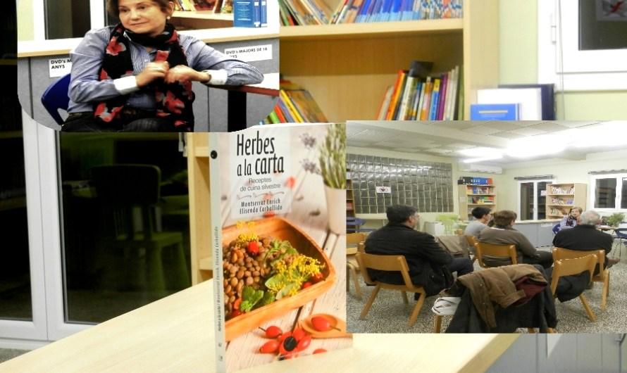 """La Periodista Castellvilarenca del Brogit, Montserrat Enrich, fa una xerrada sobre  el seu llibre """"Herbes a la Carta""""."""