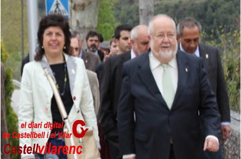 El president de la Diputació Salvador Esteve reb diversos alcaldes de la provincia de Barcelona.