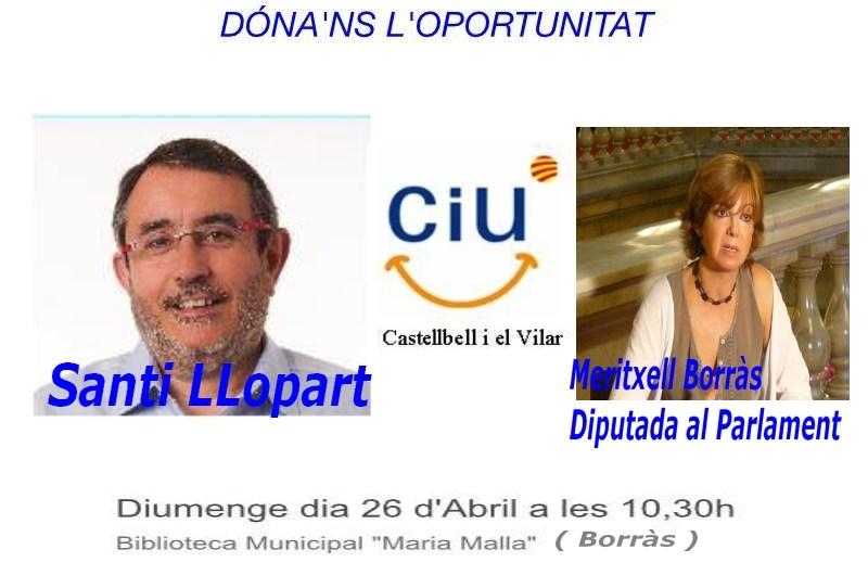CIU de Castellbell i el Vilar presentarà aquest diumenge, la seva candidatura, a les municipals de maig