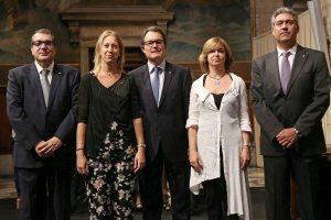 Fotografia del president amb els nous consellers Foto Gencat