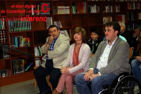 Meritxell Borràs amb David Bonvehí i el regidor de l´Ajuntament de Castellbell i el Vilar , fa dos mesos a un acte electoral al nostre poble Foto : Pere Sánchez