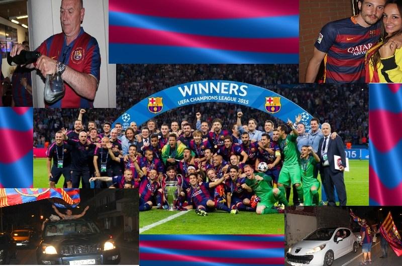 Castellbell i el Vilar celebra el triplet del Barça.