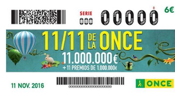 Sorteig Extraordinari 11 de l'11 de la ONCE: Llista de números premiats