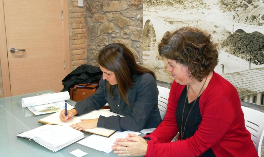 La delegada del govern de la Generalitat de Catalunya a la Catalunya Central, Laura Vilagrà fa una visita institucional a l' Ajuntament de Castellbell i el Vilar