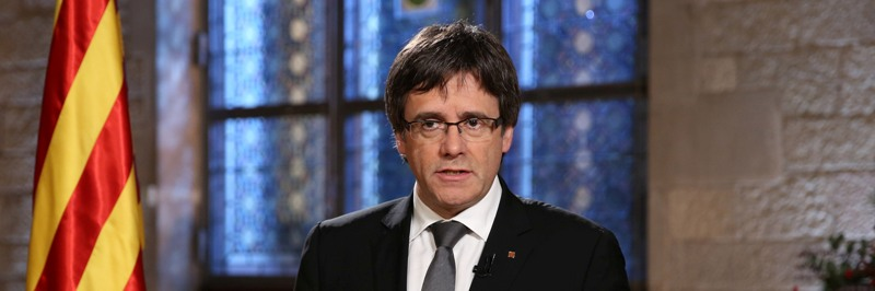 Missatge de cap d' any del president de la Generalitat Carles Puigdemont