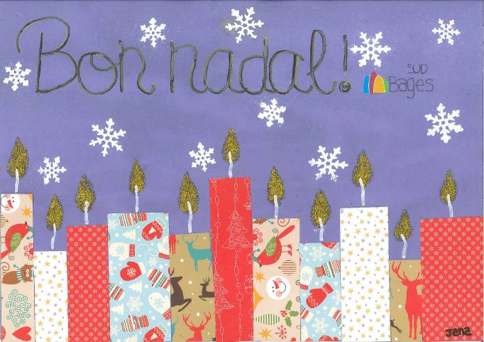 """Els Alumnes i professorat del SI Bages Sud desitgen a tothom un """"Bon nadal"""""""