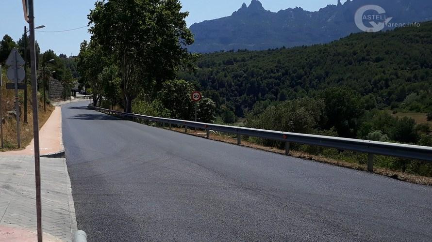 Finalitzen els treballs d'asfaltat a la travessera C-1411a, a Castellbell i el Vilar.