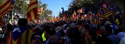 Castellbell i el Vilar viu la històrica diada de Catalunya del 2017.