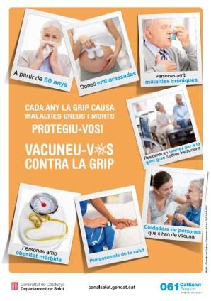 Cartell de la campanya de vacunació contra la grip, 2017-2018