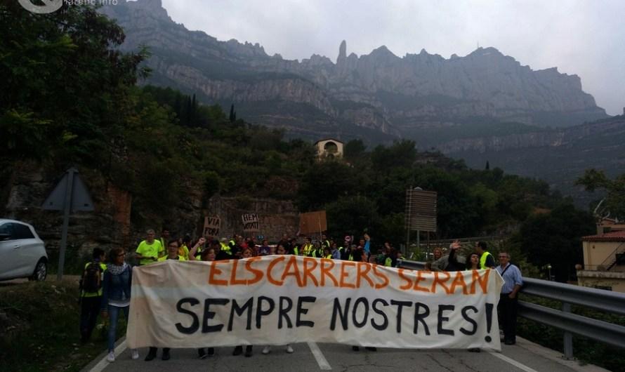 Monistrol de Montserrat es manifesta en contra de les agressions policials.