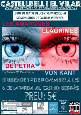 Cartell Amargues Llagrimes de petra Con Kant