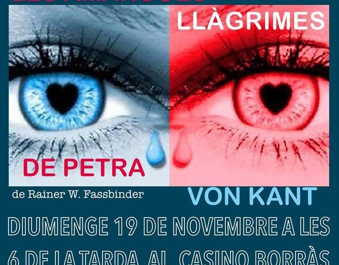 """""""CasinoaKtiu"""" de Castellbell i el Vilar estrena la nova programació de la temporada 2017-2018, amb el muntatge 'Les amargues llàgrimes de Petra Von Kant'"""