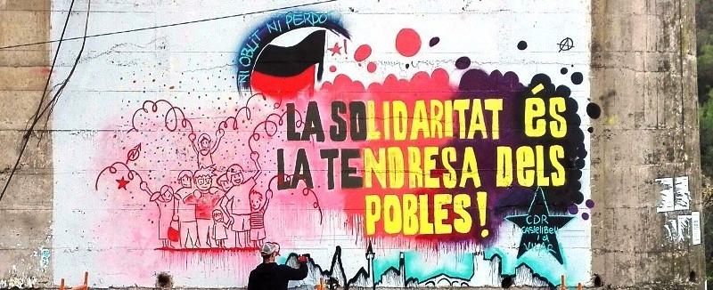 El CDR( Comitè de Defensa de la República) de Castellbell i el Vilar pinten un mural