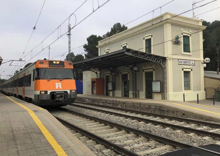 Rodalies inicia obres a l'estació de Vacarisses