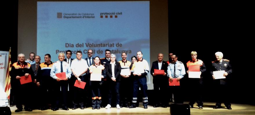 Protecció Civil de Castellbell i el Vilar reb un reconeixement a Cardona