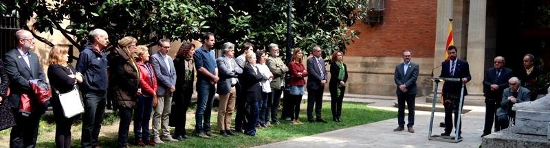 El Parlament honra Neus Català en l'acte d'homenatge als republicans represaliats pel franquisme