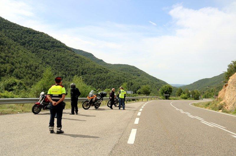 Els Mossos intensifiquen els controls a la Catalunya Central per reduir la sinistralitat dels motoristes
