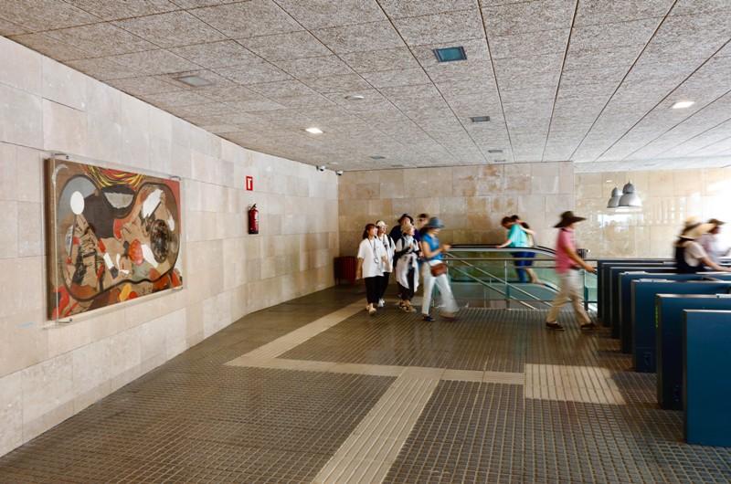 L'estació del Cremallera de Montserrat acollirà una obra de Guinovart fins el novembre