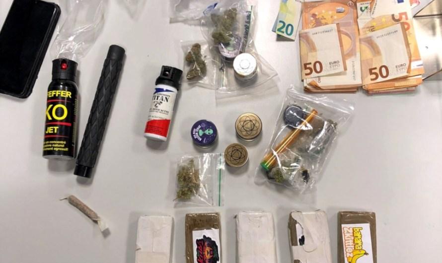 Enxampen quatre homes amb 650 grams d'haixix i 20 més de marihuana