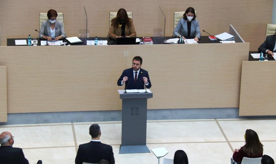 El desacord entre ERC i JxCat deixa de nou Aragonès sense presidència: El Parlament tomba la investidura