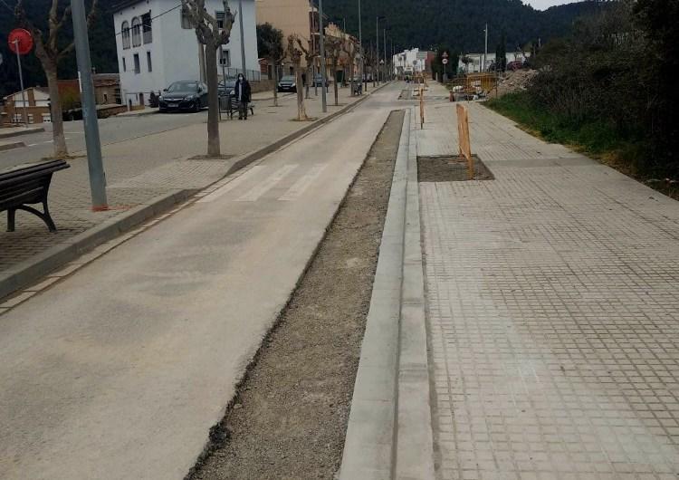 Castellbell i el Vilar avança les obres d'ampliació de l'Avinguda Catalunya