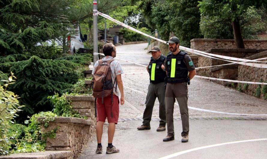 Tanquen l'accés als massissos de  Montserrat  davant el risc d'incendi