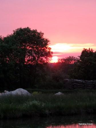 Sunset at No 1 lock