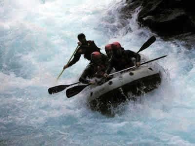 rafting pirineo aragonés. Casteret