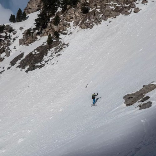 La Cubetilla con esquí de montaña