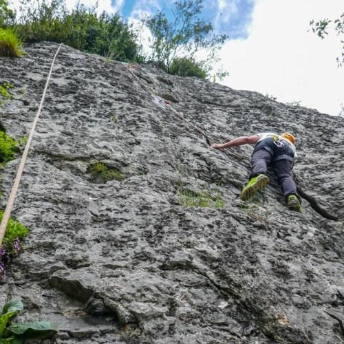 curso de escalada en roca - casteret guías