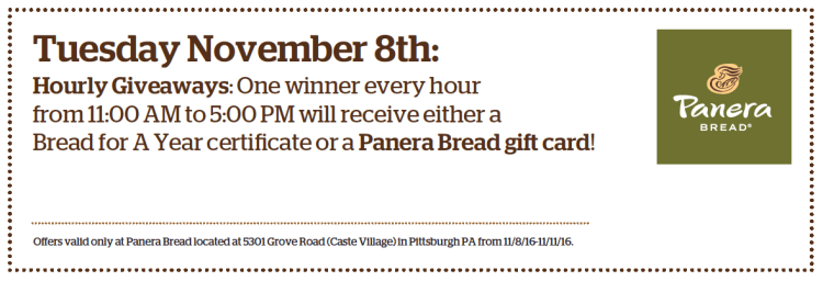 Panera Bread Coupon for Caste Village Store