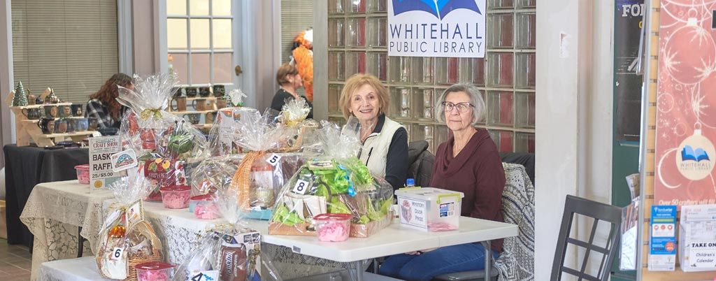 Caste Village Craft show with Whitehall Library