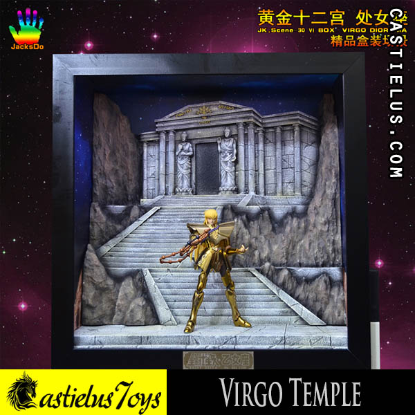 Preorder action figure original Bandai Saint Cloth Myth SCM EX Virgo Shaka SoG - Metal Club LCM LC Model Virgo | SCM Bootleg Jacksdo Virgo Temple Saint Seiya Diorama