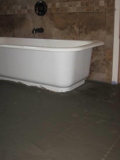 Bathroom Floor Leveled for Tile