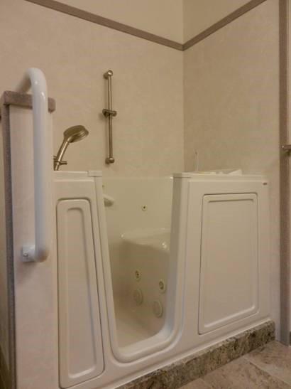 Handicap Bathtub with Door Open