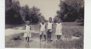 Con mi hermana Margarita, Alberto y Teresa Piazuelo