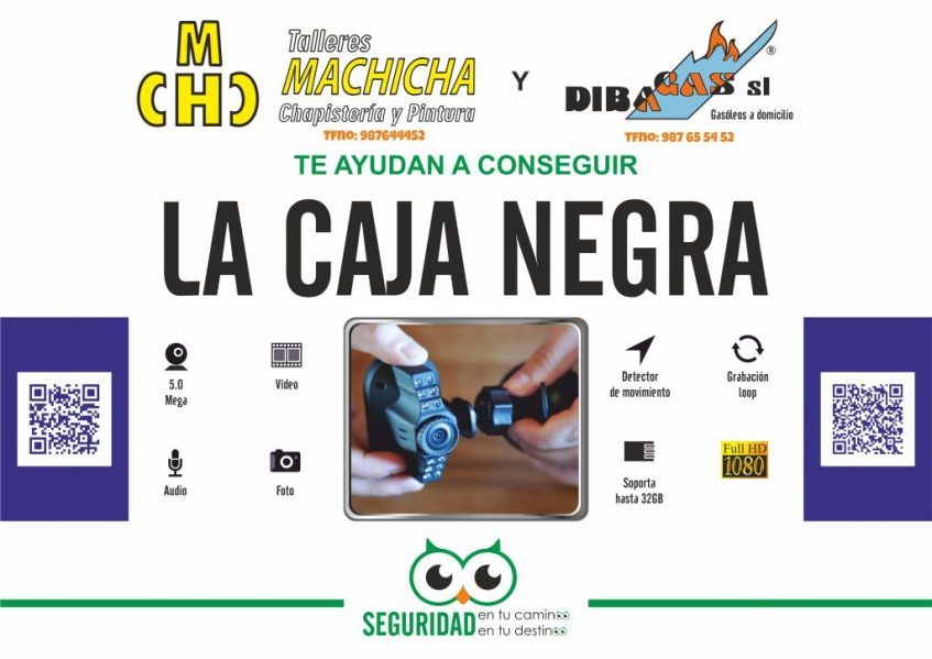 Talleres Machicha y Dibagas (La Bañeza) te regalan una Caja Negra
