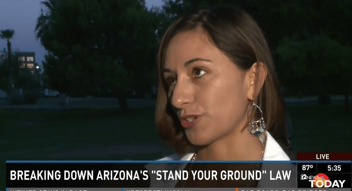 Cindy Castillo talking about Arizona Stand your Ground Law
