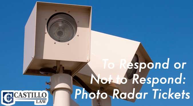 photo radar ticket response castillo law
