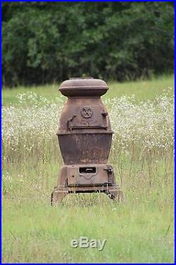 Army Cannon Stove 18 Pot Belly Antique Wood Burning