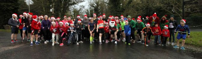 Mayo Roscommon Christmas Jumper run.